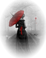 femme parapluie gothic woman umbrella