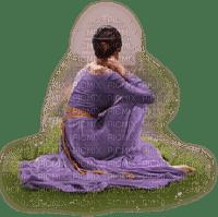purple woman femme violet