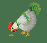 Coq poule blanc vert animal ferme Debutante