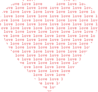 heart transparent text love