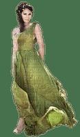 woman in green dress, sunshine3