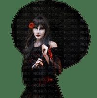 woman goth with umbrella femme gothique parapluie