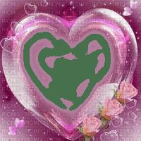 pink heart frame pink cadre coeur