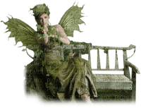 fairy green bench feerie vert banc