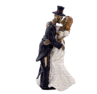 gothic wedding couple skeleton