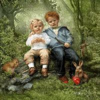 siblings forest bg freres soeurs foret fond