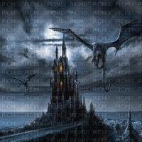 Haunted castle background