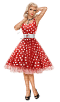 woman dress polka dots femme