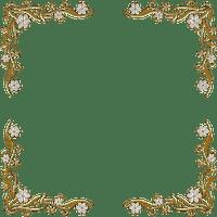 Cadre doré or golden frame flower fleur