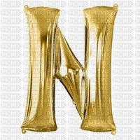 Letter N Gold Balloon