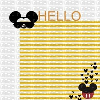 image encre color stipes hello happy birthday Mickey Disney  edited by me
