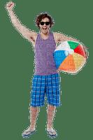 man mann homme beach plage strand sea mer meer tube summer ete  person human people
