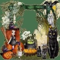 halloween deco frame cadre