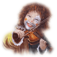 clown child violin enfant
