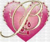 Lettre B en coeur