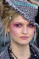 image encre femme visage mode chapeau charme edited by me