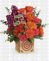 image encre fleurs happy birthday edited by me