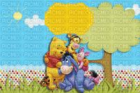 multicolore image encre color effet à pois Pooh paysage dessin fantaisie Disney edited by me