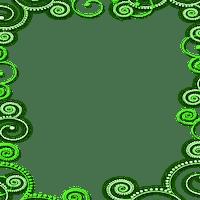 CADRE VERT ornament frame green