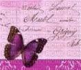 papillon violet/rose vintage