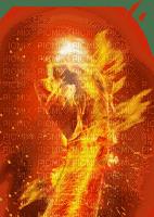fire woman femme feu