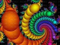 Girandola  a colori  psichedelica