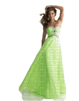 woman in light green dress, sunshine3
