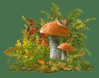 automne deco autumn mushrooms