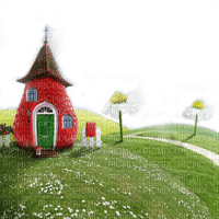 background fond spring printemps frühling primavera весна wiosna grass gras  garden jardin paysage landscape course race field strawberry house fantasy maison fleur flower tube