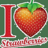 l love strawberries text je taime fraise