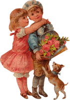 St. Valentin children love heart vintage_Saint Valentin enfants amour cœur