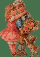 St. Valentin children love heart vintage_Saint Valentin enfants amour cœur