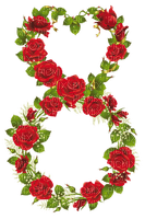 womens day eight of march roses deco