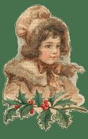Mädchen, Girl, Zweig, Weihnachten, Vintage