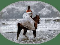 woman horses sea femme cheval océan