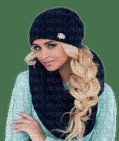 woman-blue sweater-blond braid-femme-bleu chandail-blond tresse-donna-maglione-blu-treccia-bionda-kvinna-blå-tröja-blond-fläta-minou