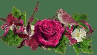 Fleurs.Rose.Flower.Bird.Deco.Victoriabea