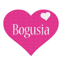 Name Text Pink Heart - Bogusia