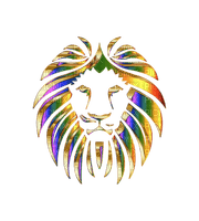 lion löwe africa art abstract deco tube colorful