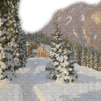 landscape  winter hiver wald house maison  snow foret tree image  forest    fond background   landschaft paysage   tube  montagnes berge mountains