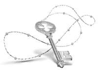 key deco silver clé argent