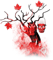 soave deco halloween tree black white red