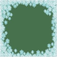 snow flake frame blue