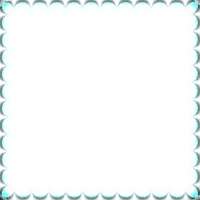 turquoise frame cadre turquoise