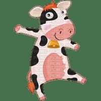 Petite vache blanche, noire, rose