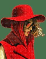 woman red hat fashion
