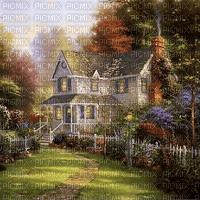 victorian house garden spring summer autumn paintinglounge