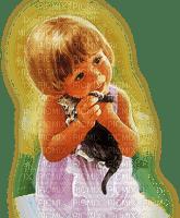 enfant fillette CHAT  child girl CAT