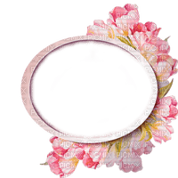 frame cadre rahmen round circle oval flower fleur blossom blumen fleurs fond background spring printemps frühling primavera весна wiosna tube pink