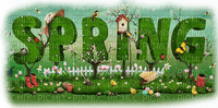 spring text deco